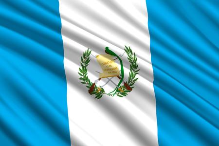 waving flag of Guatemala. Vector illustration