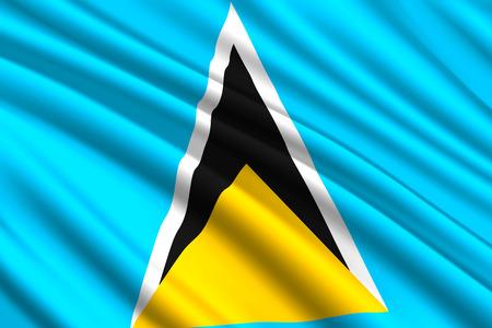 waving flag of Saint Lucia. Vector illustration 向量圖像