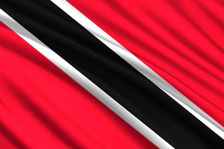 waving flag of Trinidad and Tobago. Vector illustration Illustration
