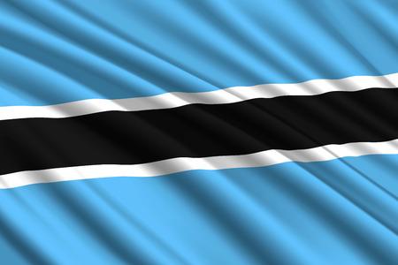waving flag of Botswana. Vector illustration