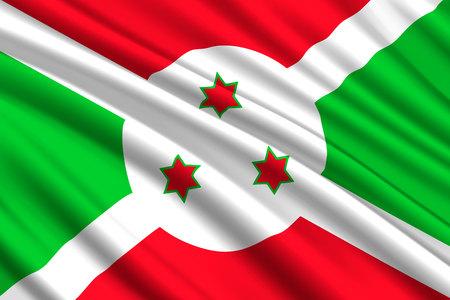 waving flag of Burundi. Vector illustration