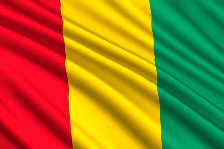 waving flag of Guinea. Vector illustration