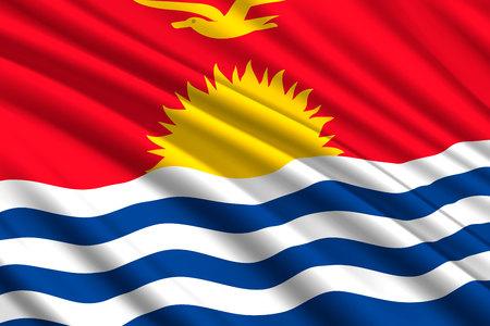 waving flag of Kiribati. Vector illustration
