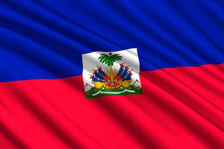 waving flag of Haiti. Vector illustration