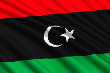 waving flag of Libya. Vector illustration Illustration