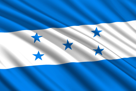 waving flag of Honduras. Vector illustration