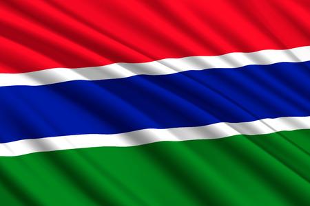 waving flag of Gambia. Vector illustration