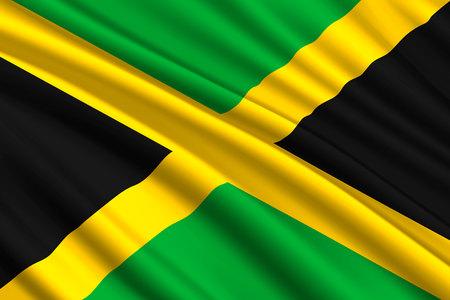 waving flag of Jamaica. Vector illustration