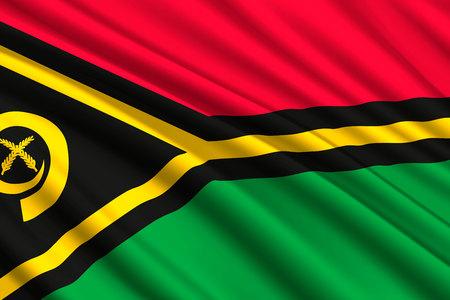 waving flag of Vanuatu. Vector illustration