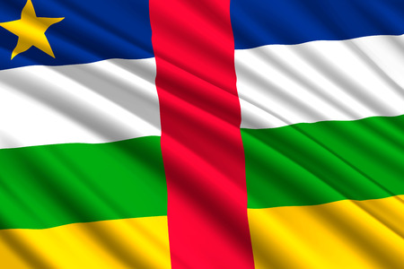 waving flag of Central African Republic. Vector illustration