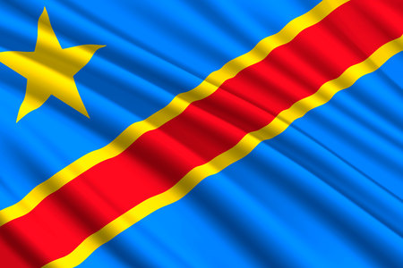 waving flag of Democratic Republic of the Congo. Vector illustration