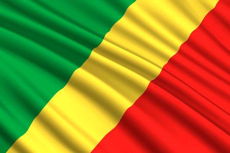 waving flag of Republic of the Congo. Vector illustration