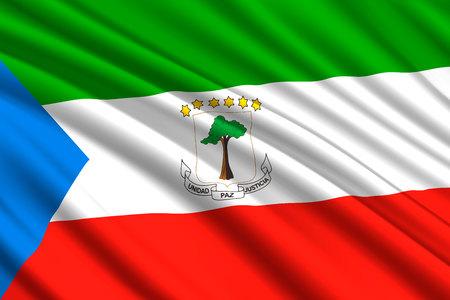 waving flag of Equatorial Guinea. Vector illustration