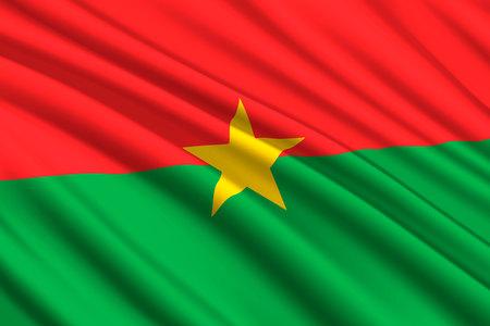 waving flag of Burkina Faso. Vector illustration