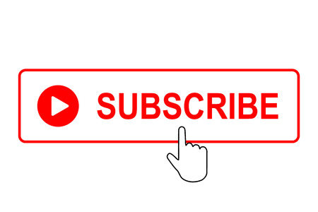 Subscribe button with pointer. Vector illustration