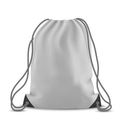 White backpack bag. Sport bag mockup on white background