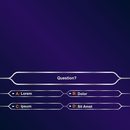 Fond de question de jeu intellectuel