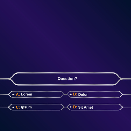 Intellectual game question background Vectores