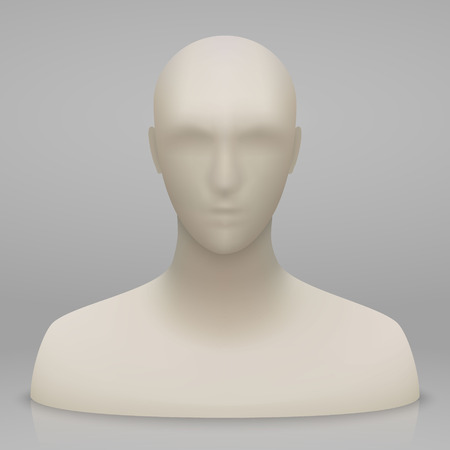 3d realistic mannequin head