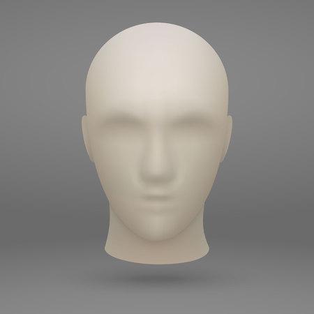 3d realistic mannequin head Illustration