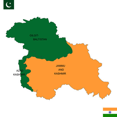 Map of Kashmir is a geographical region of the Indian subcontinent