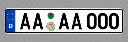 Number plate. Vehicle registration plates of Germany Vetores