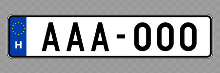 Number plate. Vehicle registration plates of Hungary