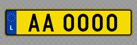Number plate. Vehicle registration plates of Luxembourg