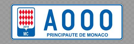 Plaque d'immatriculation. Plaques d'immatriculation des véhicules de Monaco