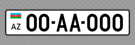 Number plate. Vehicle registration plates of Azerbaijan
