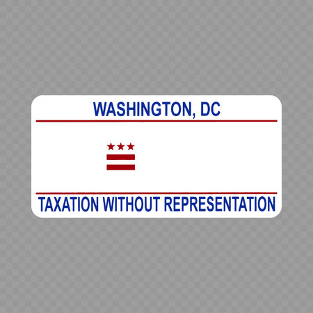 Number plate. Vehicle registration plates of USA state - Washington, DC. District Columbia