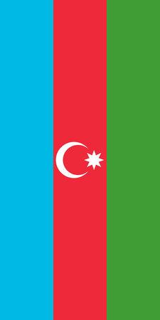 Hanging vertical flag of Azerbaijan