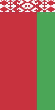 Hanging vertical flag of Belarus
