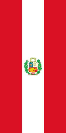 Hanging vertical flag of Peru