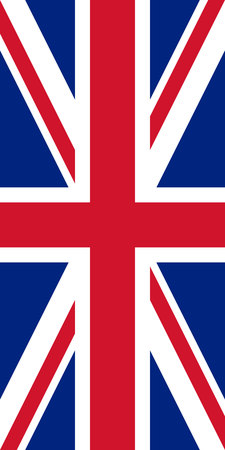 Hanging vertical flag of United Kingdom