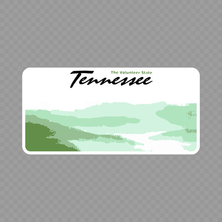 Number plate. Vehicle registration plates of USA state - Tennessee