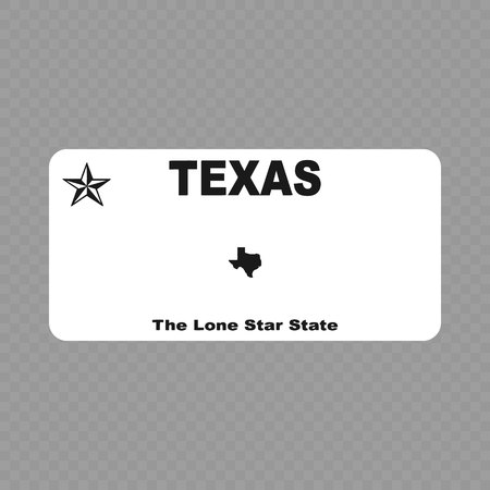 Number plate. Vehicle registration plates of USA state - texas