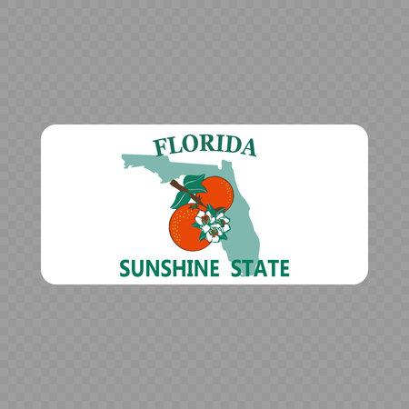 Nummernschild. Kfz-Kennzeichen des Bundesstaates USA - Florida