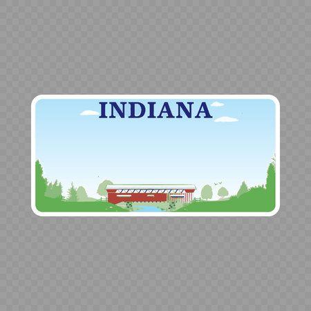 Number plate. Vehicle registration plates of USA state - Indiana