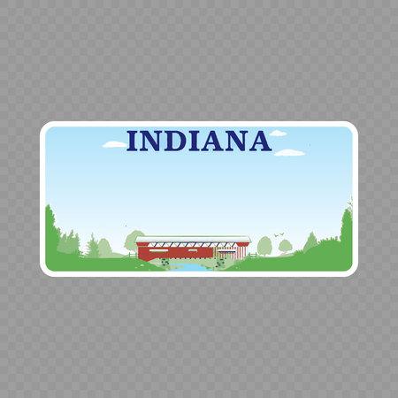 Nummerplaat. Kentekenplaten van de Amerikaanse staat - Indiana