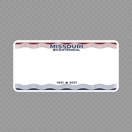 Number plate. Vehicle registration plates of USA state - Missouri