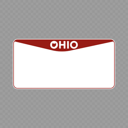 Number plate. Vehicle registration plates of USA state - Ohio
