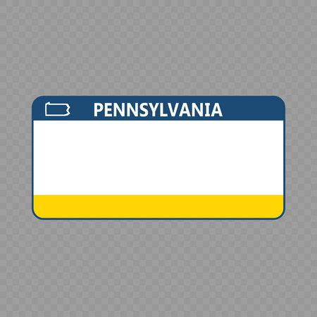 Número de placa. Placas de matrícula de vehículos del estado de EE. UU. - Pensilvania