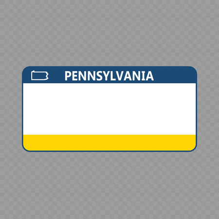 Number plate. Vehicle registration plates of USA state - pennsylvania