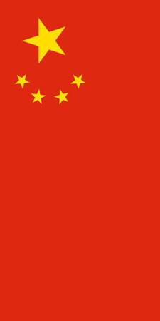 Hanging vertical flag of China