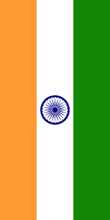 Hanging vertical flag of India