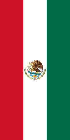 Hanging vertical flag of Mexico
