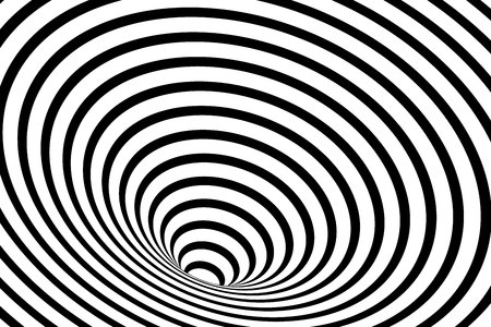 optisch hypnotisch gestreifte geometrische Spirale