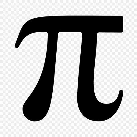 Pi symbol icon . Vector illustration