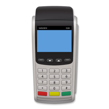 Realistic Payment Terminal. POS machine